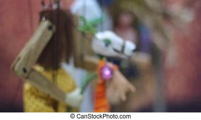 traditionnel, thaï, marionnette, ficelle