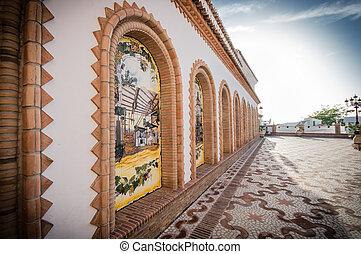 traditionnel,  town/village, blanc, espagne,  Competa