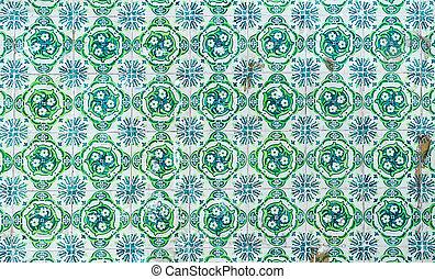 traditionnel, vendange, azulejos, tuiles, portugais