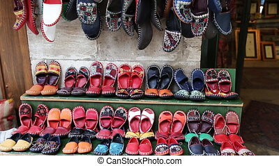 traditionnel, ville, chaussures, istanbul, turc