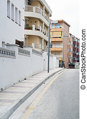 traditionnel, ville, rue, espagnol