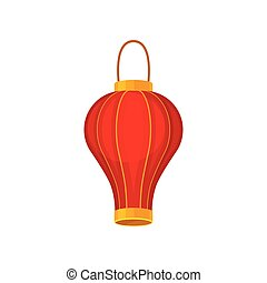 traditions, chinois, religion., asiatique, lanterns., rouges