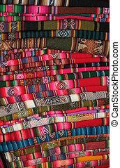 tradizionale, americano, tessuto, sud