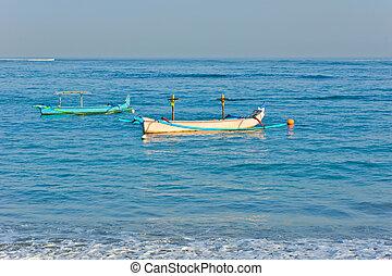 tradizionale, balinese, barca