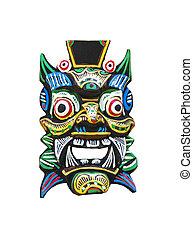 tradizionale, balinese, maschera