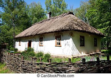 tradizionale, capanna, ucraino