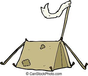 tradizionale, cartone animato, tenda