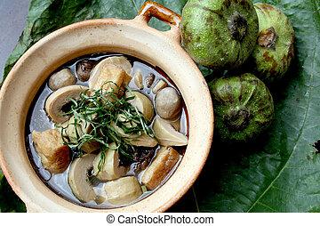 tradizionale, cibo, vegetariano, asiatico