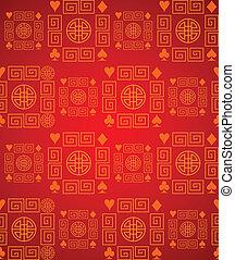 tradizionale, cinese, fondo