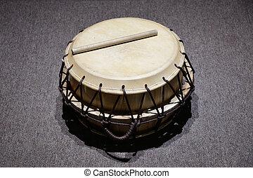 tradizionale, coreano, 'buk', tamburo, chiamato