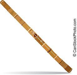 tradizionale, didgeridoo, australiano, vettore