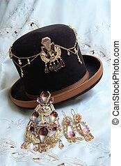 tradizionale, dorato, boliviano, gioielleria