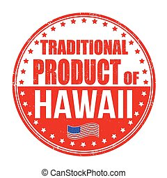 tradizionale, francobollo, prodotto, hawai