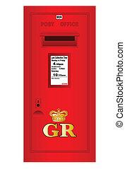 tradizionale, georges, regno, postbox, britannico