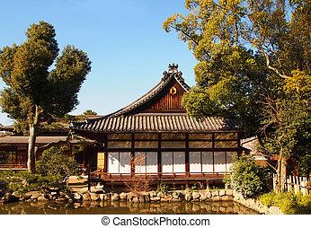 tradizionale, giappone, legno, tokyo, casa