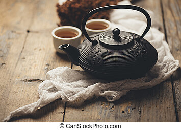 tradizionale, giapponese, tè