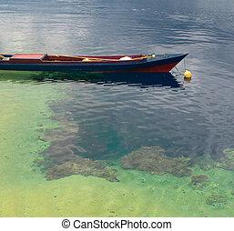 tradizionale, indonesiano, peschereccio