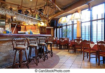 tradizionale, interno, italiano, ristorante