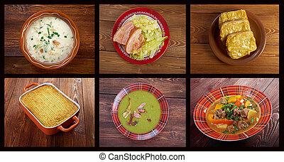 tradizionale, irlandese, britannico, cucina