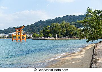 tradizionale, itsukushima shrine, giapponese