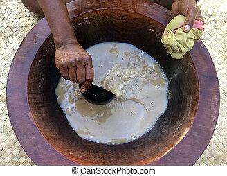 tradizionale, kava, bevanda, il, nazionale, bevanda, di, figi