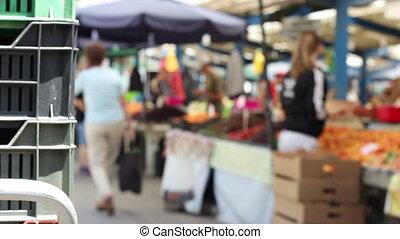 tradizionale, mercato, vista