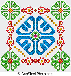 tradizionale, messicano, ornamenti, set