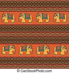 tradizionale, modello, indiano