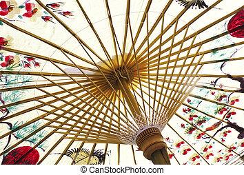 tradizionale, ombrello carta, asiatico