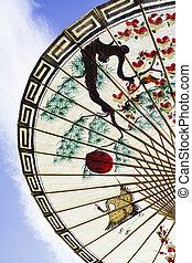tradizionale, ombrello carta
