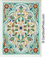 tradizionale, pittura, yaroslavsky, popolo, tile.