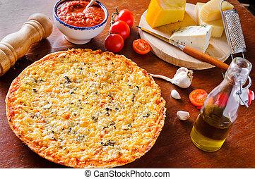 tradizionale, pizza formaggio