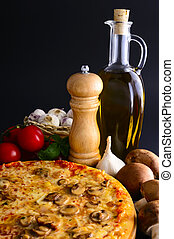 tradizionale, pizza, ingredienti