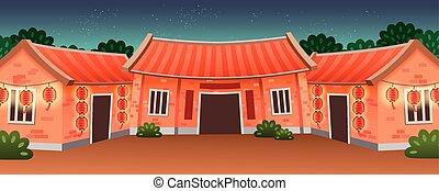tradizionale, residenza, tipo