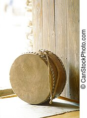 tradizionale, strumento, coreano