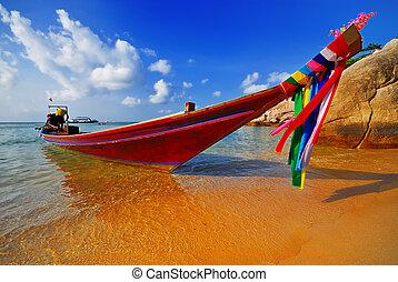 tradizionale, tailandese, barca