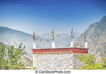 tradizionale, tibetano, casa, in, suopo, -, sichuan