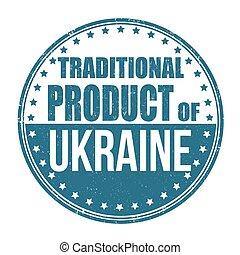 tradizionale, ucraina, prodotto, francobollo