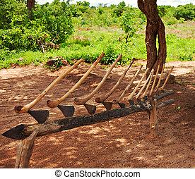 tradizionale, zimbabwean, ascia