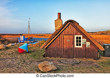 Tradtional fishing hut, Nymindegab, Denmark