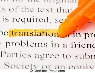traducción, palabra