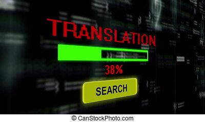 traduction, recherche, ligne
