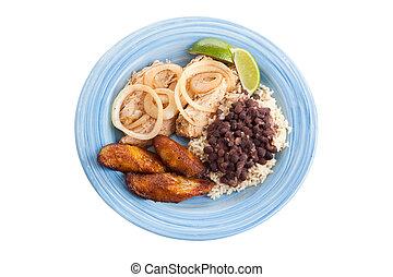 tradycyjny, ścieżka, kubanka, obiad