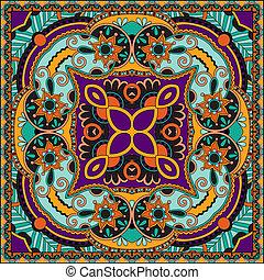 tradycyjny, dekoracyjny, paisley, kwiatowy, bandanna.