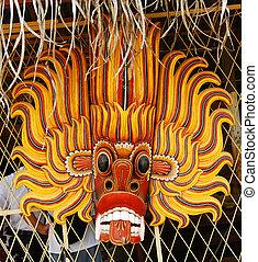 tradycyjny, diabeł, maska
