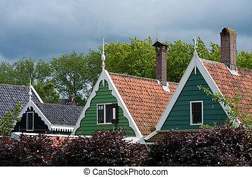 tradycyjny, Domy, Holenderski