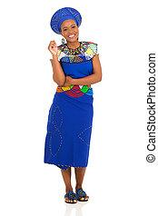 tradycyjny, kobieta, afrykanin, odzież
