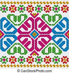 tradycyjny, komplet, meksykanin, upiększenia