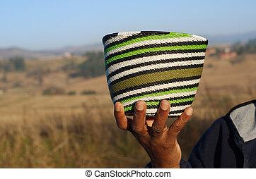 tradycyjny, kosze, afrykanin