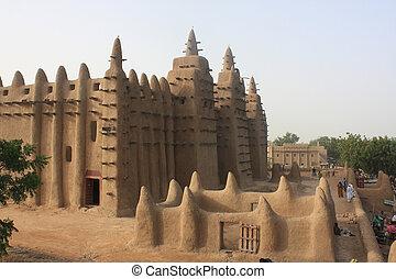tradycyjny, minaret, mosk
